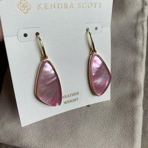 Kendra Scott Small McKenna Earrings Deep Blush MOP